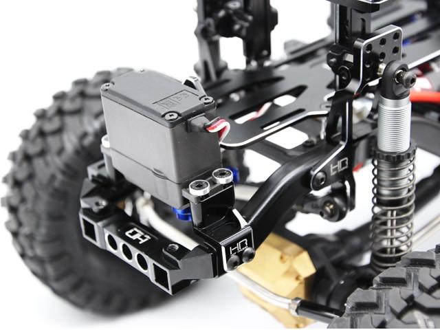 Kit de Conversion avant Servo et batterie de course chaude pour 1/10 Traxxas TRX-4 TRX 4 camions Rc pièces de voiture d'escalade