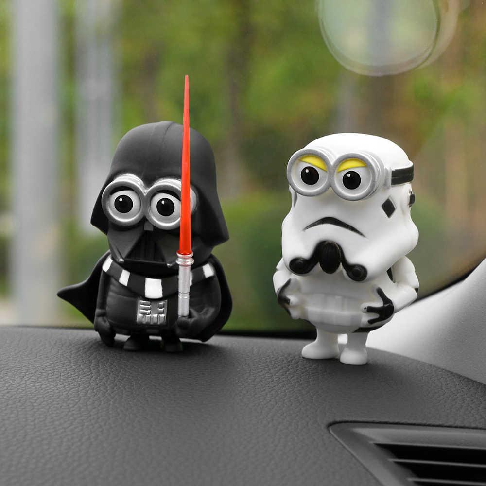 Украшение автомобиля игрушечные фигурки для звездных войн Креативные украшения черный белый меч герои игрушки автомобиля интерьерные аксессуары украшения