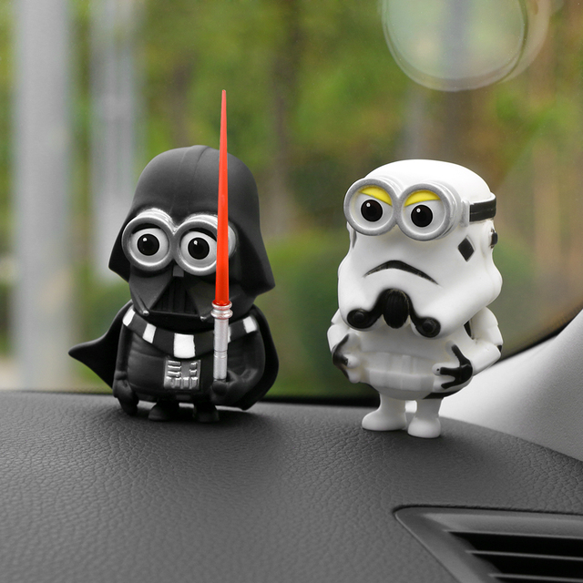 Car Decoration Cosplay Dolls for Star Wars Creative Ornaments Black White Sword Heroes Toys Car Interior Accessories Ornaments