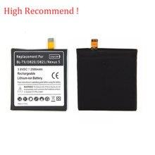 3.8V Replacement Rechargeable Li-ion bateria For LG Google Nexus 5 E980 D820 D821 BL-T9 BLT9 High Quality 2500mah Battery