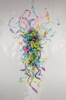 Colorful High Quality Hand Blown Glass American Style Chandelier