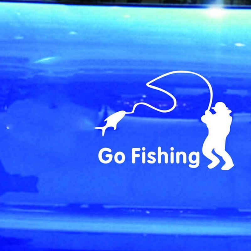 14x11 سنتيمتر السلامة مقاوم للماء جسم السيارة نافذة ملصق لاصق لامع ورائع ملصقات جدار يغطي الكرتون الذهاب الصيد ليلة عاكسة ملصقات السيارات