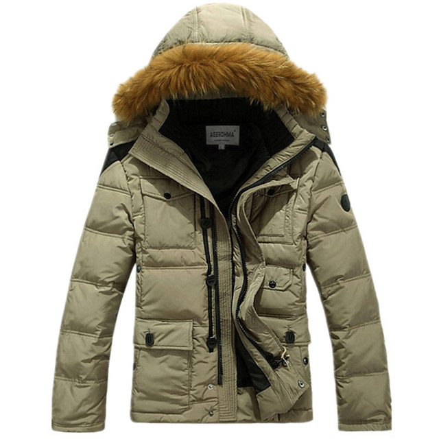 2015 Mens Parka Jacket Cheap Thick Warm Duck Down Winter Jacket ...