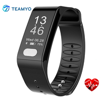 Teamyo Heart Rate Monitor Smart Band ECG PPG Fitness Pedometer Tracker Smart Wristband Blood Pressure Bracelet