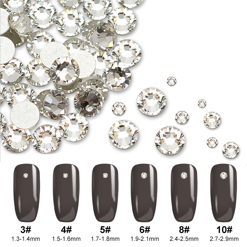 1440p Strass Nail Art Decorations Rhinestones for Nails SS3 3D Nail Rhinestones Decoration 3D Nails Art Manicure CZ6094