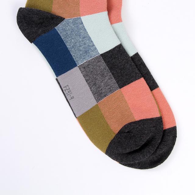 5 Pairs Combed Cotton Men's Socks