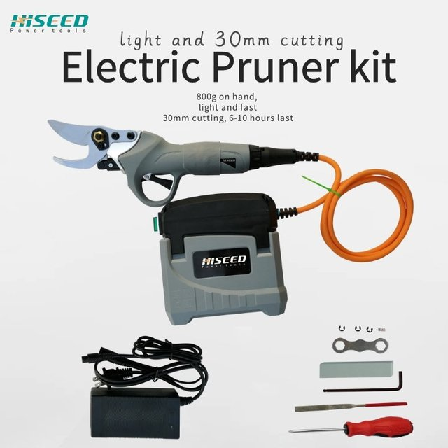 36V lithium battery electric pruning shears Working time 6-8 hours Picking fruit scissors Gardening tools 1
