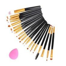 20pcs Eye Makeup Brushes Set Eyeshadow Blending Brush Powder Foundation Eyebrow Lip Eyeliner Brush Cosmetic Tool