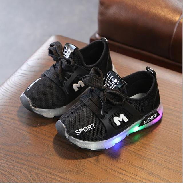 LED Glowing Sneakers for Children
