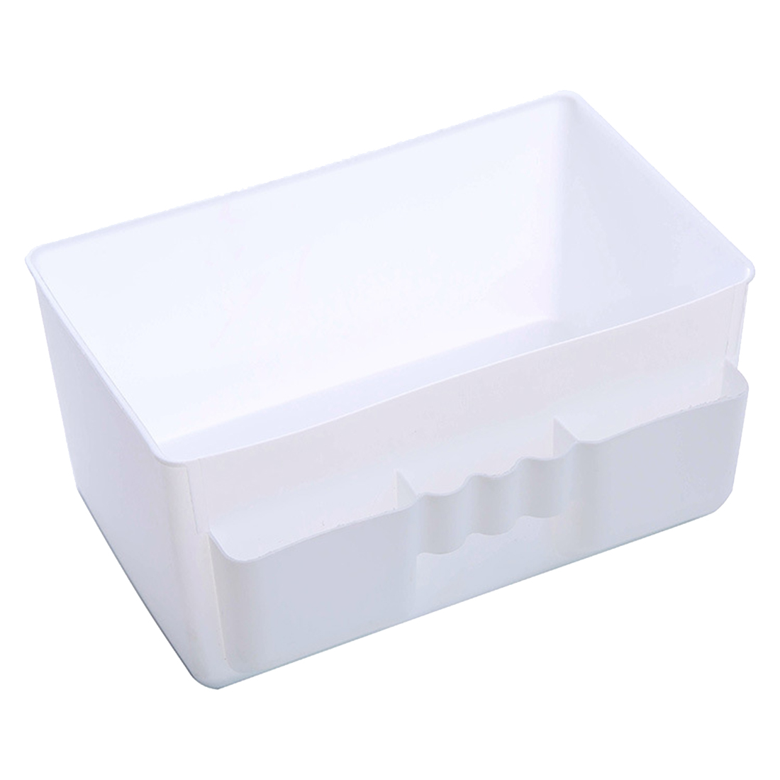 Best Hot Sale Cute Plastic Office Desktop Storage Boxes Makeup Organizer Storage Box #69829(white)