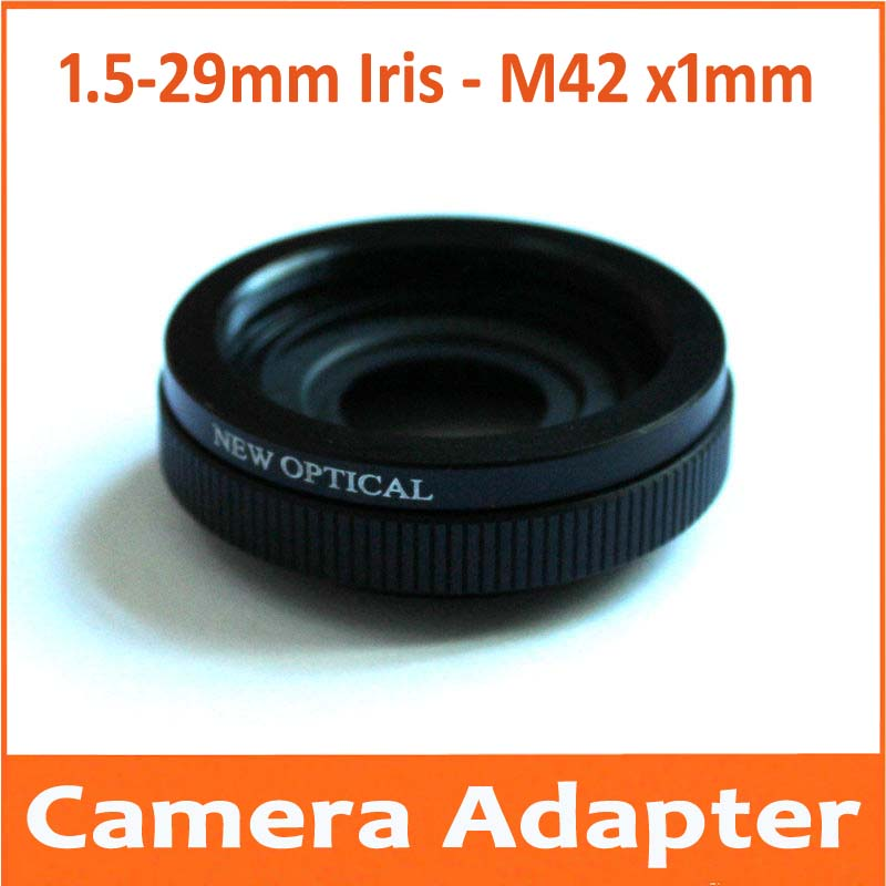 1 5 29mm M42 Amplifying Adjustable Metal Iris Diaphragm Aperture Condenser Camera lens Adapter with M42