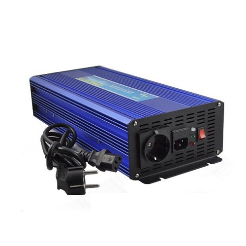 Pure Sine Wave UPS Inverter 500W 12V/24V DC to 110V/220V AC with battery Charging Function peak power 1000W