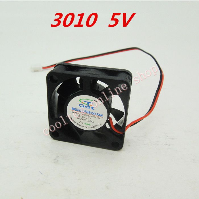 10pcs/lot  30x30x10mm  3010 mini fan  5 Volt  Brushless DC Fans  cooling сигнализация pandect x 3010