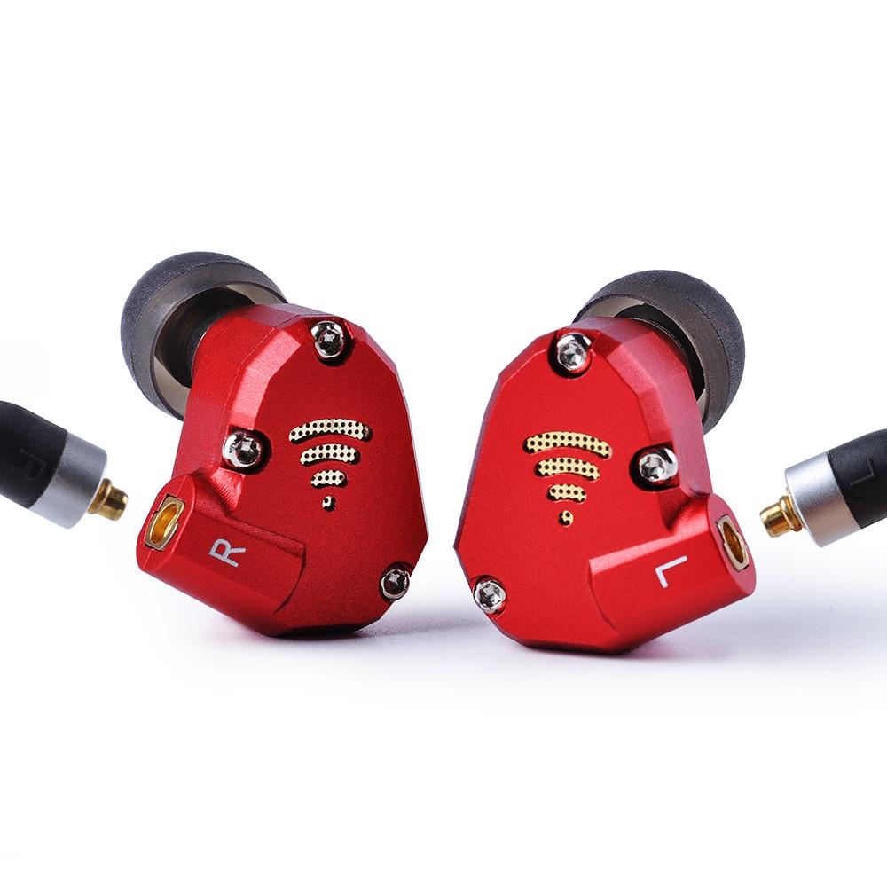 Wooeasy PHB EM-023 2BA + 2DD en el auricular del oído híbrido de alta fidelidad Monito auriculares de deporte auriculares auricular con MMCX desmontable