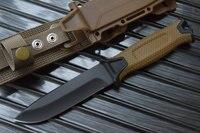 HOT 1500 Fixed Blade Knife 12c27 Steel Blade Fiberglass Handle ABS Nylon Sheath Hunting Knife