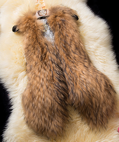 Plus Size Women Sleevelss Faux Fur Coat Vest Fashion Luxury Nature Raccoon Fur Color Fur Gilet Front Long Back Short Jacket J55