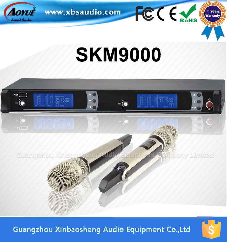 [On Promotion] harga UHF karaoke wireless handheld microphone SKM9000  with two metal microphones slx24 beta58 uhf wireless microphones only one microphone no receiver slx2