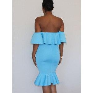 Image 3 - Off Shoulder Maternity Dresses For Photo Shoot Maternity Photography Props Dresses For Pregnant Women Clothes Pregnancy Dresses