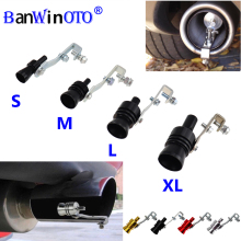 Автомобильный турбо-свисток глушитель выхлопной трубы авто предохранительный клапан-симулятор Универсальный для всех автомобилей Автомобильный Стайлинг Tunning S/M/L/XL