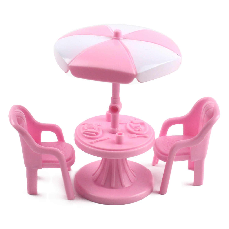 Besegad Забавный велосипед качели стол игрушечные кресла Кукольный дом аксессуары набор для кукол Барби Дети Девушки подарки на день рождения и Рождество