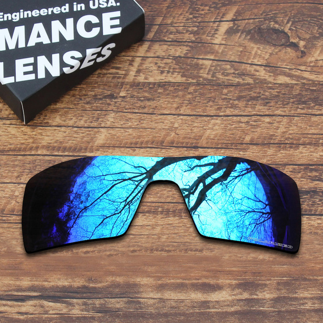 8be9ad74782a7 ToughAsNails Resist Seawater Corrosion Polarized Replacement Lenses for Oakley  Oil Rig Sunglasses Blue Mirrored (Lens