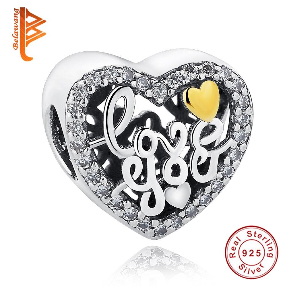Fit Bw Asli Charms Gelang Eropa 925 Sterling Silver Pave Cz Kristal Gelsng Rantai Kecil Love Korea Jantung Diy Membuat Perhiasan Beads Hadiah Natal