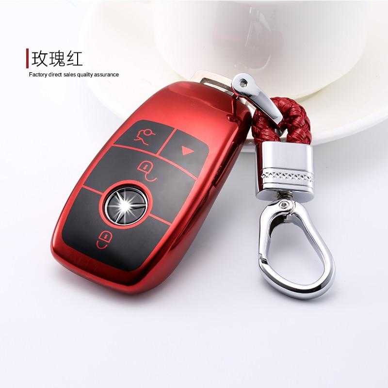 4 Colors Remote Smart TPU Car Key Case For Mercedes Benz