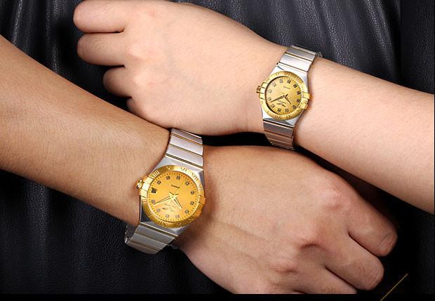 GUANQIN Gold Couple Watches Men Automatic Mechanical Watch Women Quartz Watch Luxury Lover Watch Waterproof Fashion Wristwatches (8)