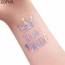 ZOPHIL Wedding Decoration Event Hen Party DIY Accessories Bride to be Supplies Mr Mrs Waterproof Tattoos Bachelor Bridesmaid