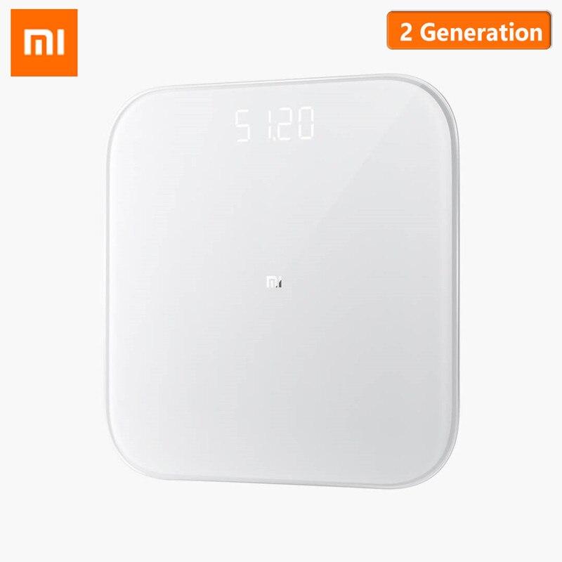 الأصلي Xiaomi الذكية مقياس الصحة مقياس الوزن 2 بلوتوث 5.0 مقياس رقمي دعم الروبوت 4.3 iOS 9 Mifit APP 300X300X20 مللي متر-في موازين الحمامات من المنزل والحديقة على  مجموعة 1
