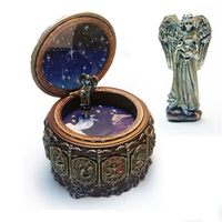 Vintage Mechanical Classical Collectible Music Box 12 Constellations Resin ''Castle in the Sky'' Musica Box Happy Birthday Gift