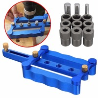 1Set Self Centering Metric Dowelling Jig Woodworking Drilling Tool 6 8 10mm Pins Drill Sleeve