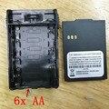 6x caja de batería de AA caja para puxing px777, px888k, vev3288s, vev v1000, vev v16 etc walkie talkie negro color