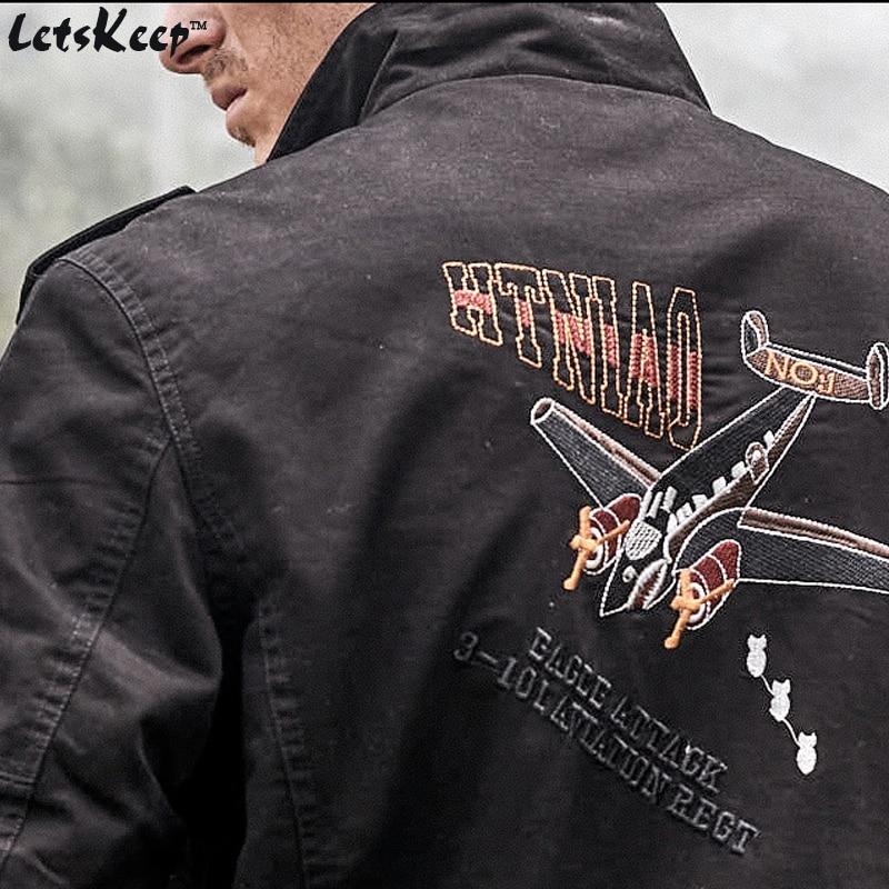 Veshja e re e xhaketave të zeza të bombave të zeza të burrave, - Veshje për meshkuj - Foto 3