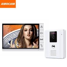 9 » цветной TFT видео-телефон двери интерком дверной звонок ик-камеры домофона монитор громкая интерком 1V1