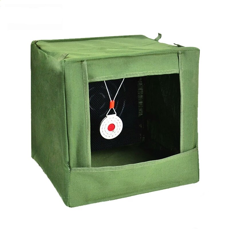 Dobrável Estilingue Alvo Caixa Visando Prática Catapulta Tiro Lona 40cm * 28cm Silenciador Case