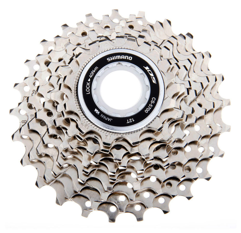 цена на shimano 105 5700 10 SPD Speed HG Cassette Sprocket Road Bike Cycling 11-25T