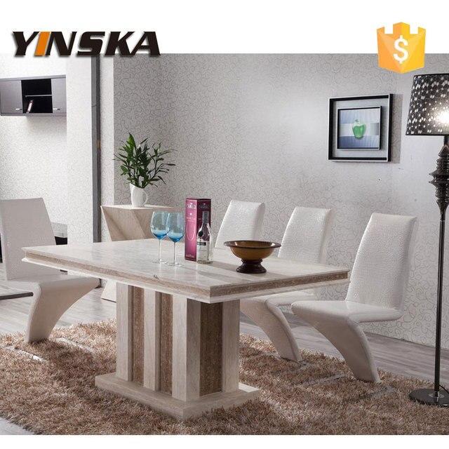 Muebles de lujo moderno de piedra natural de m rmol mesa de comedor para 8 plazas en mesas de - Muebles de piedra ...