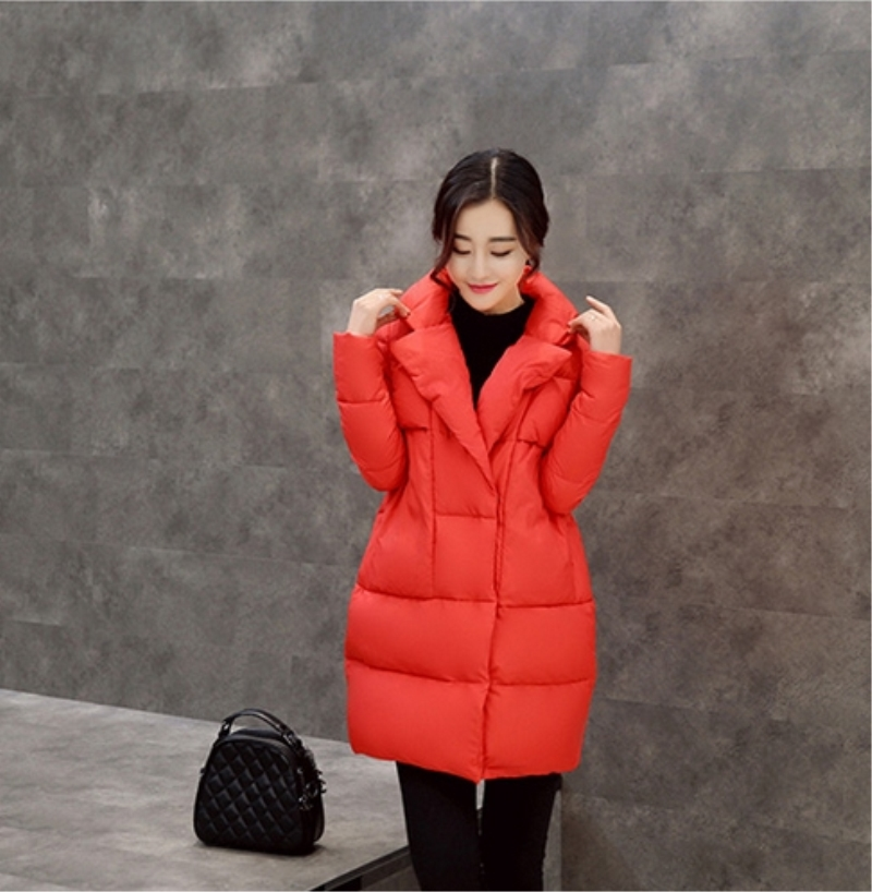 Thick long-sleeved long section of a large lapel coat winter warm bread served free shipping New high-end women's wholesale long long