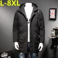 Большие размеры Для мужчин зимние на открытом воздухе длинный плащ пуховик утолщение парка пальто Бесплатная доставка Большие размеры 8XL 7XL...