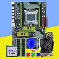 HUANAN ZHI X79 Pro moederbord met dual M.2 slot video card GTX1050Ti 4G CPU Xeon E5 1650 3.2 GHz cooler RAM 16G (2*8G) REG ECC