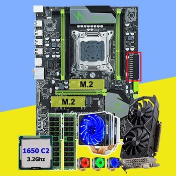 HUANAN ZHI X79 Pro motherboard with dual M.2 slot video card GTX1050Ti 4G CPU Xeon E5 1650 3.2GHz cooler RAM 16G(2*8G) REG ECC