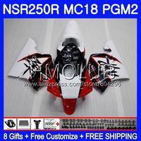 Комплект Красный Белый Новый для Honda NSR 250 R MC18 PGM2 NSR 250R NS250 NSR250R 88 89 93HM. 6 NSR250 Р РЎРў NSR250RR 1988 1989 88 89 обтекатель