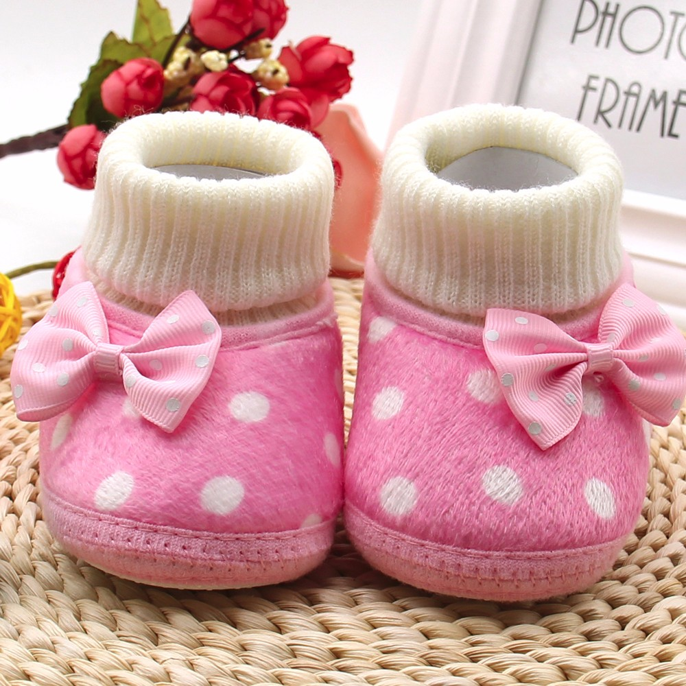 713dd6abd0c1 Bowknot Hot Soft Sole Boots Baby Shoes Cute Girl Newborn Warm Toddler baby  boy shoes winter-in First Walkers from Mother   Kids on Aliexpress.com