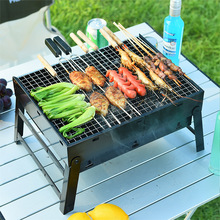 Outdoor Portable Folding Grill Bbq Camping BBQ Small Charcoal Grill Garden Accessories Outdoor  Smoke Grill  Char Broiler недорого
