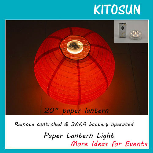 96pieces Lot Battery Operated Remote Controlled Led Paper Lantern Lights Chinese