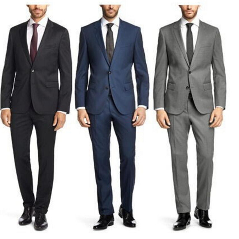 New Custom Business Men's Dress Suit Slim Men's Party Dress Suit To Work Business Wear Formal Dress (jacket+ Pants + Tie )