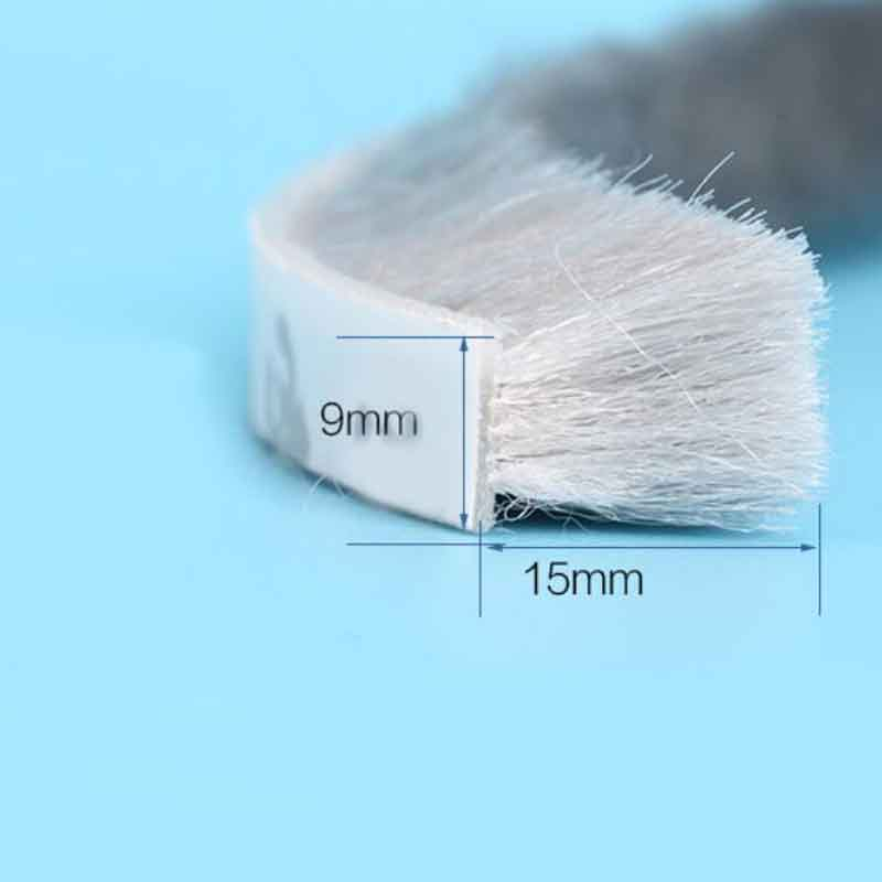 1M Self adhesive window door seal strip draught excluder brush pile seal