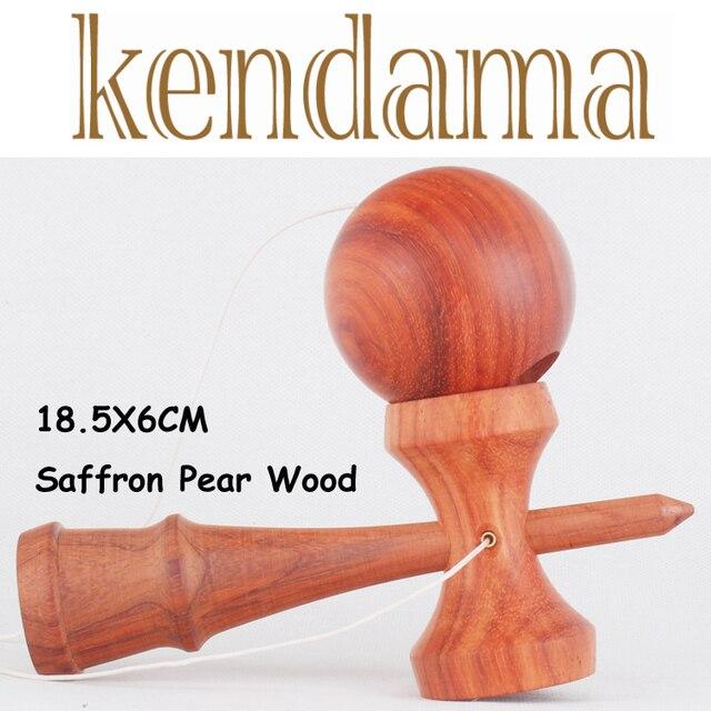 Kendama Kendama для продажа kendama Профессиональный Шафран груши диаметр 18.5x6 СМ слово нефрита Kendama Мяч игрушки