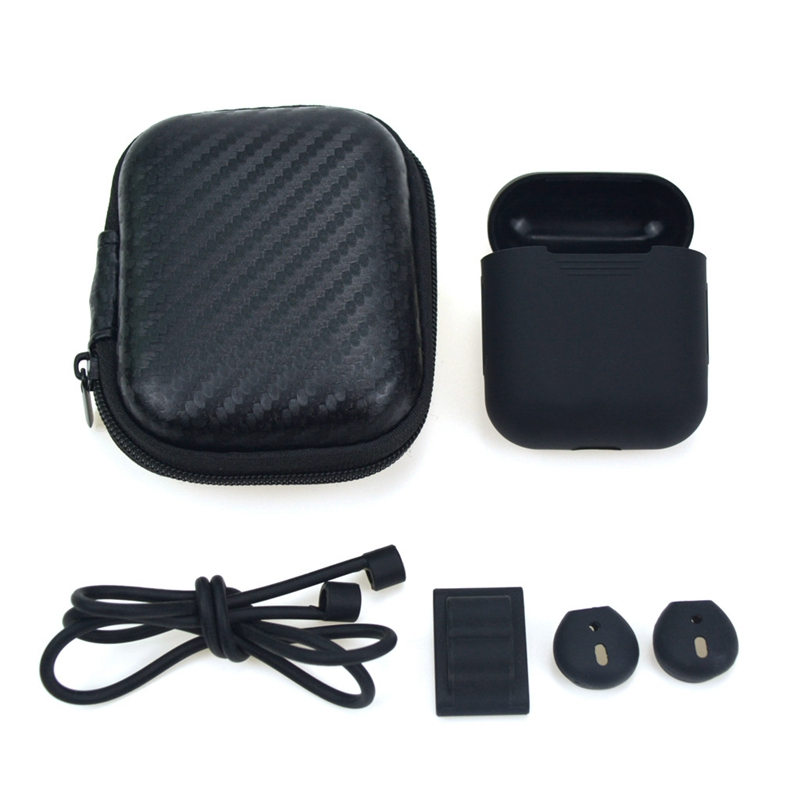 5 in 1 Receiving Case For Airpods Bluetooth Wireless Earphone Set for AirPods Headphone AntiLost Rope Watch Holder Earhook Cover